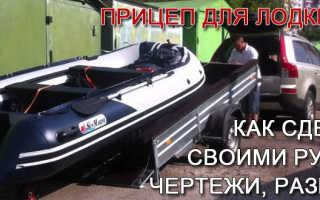 Приспособление для перевозки лодки ПВХ в прицепе