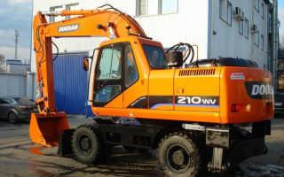Экскаватор доосан 210 технические характеристики