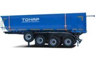 Прицепы тонар для грузовых автомобилей самосвальные