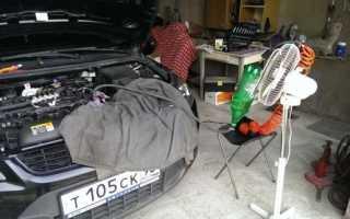 Как промыть форсунки не снимая с двигателя