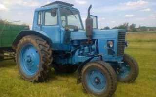 Трактор МТЗ 80 с прицепом