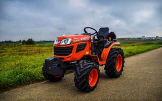 Минитрактор Кубота (Kubota) и мотоблок А14 — модельный ряд трактора