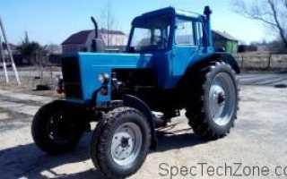 Сколько весит трактор мтз 82