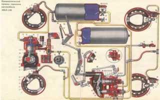 Тормозной кран на прицеп МАЗ