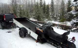 Прицеп для перевозки снегохода своими руками