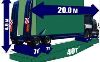 Как получить разрешение на перевозку негабаритного груза